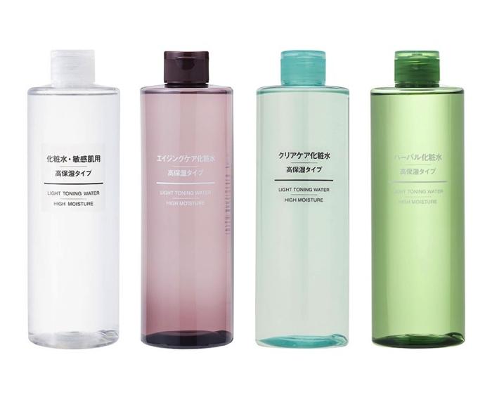 無印化粧水シリーズ4種類写真